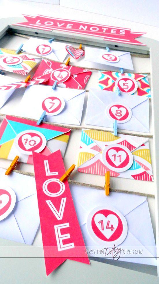 Romantic Advent Calendar Ideas : Valentine s advent love notes calendar