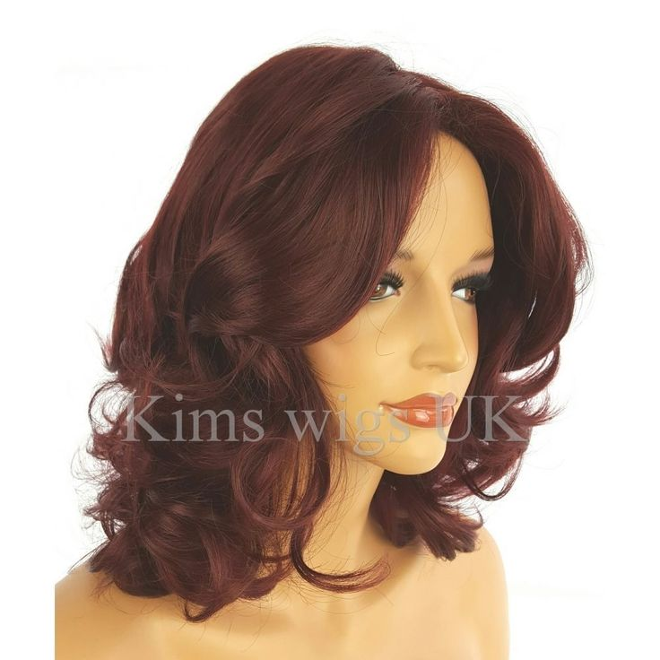 KATY BURGUNDY RED SHOULDER LENGTH WIG