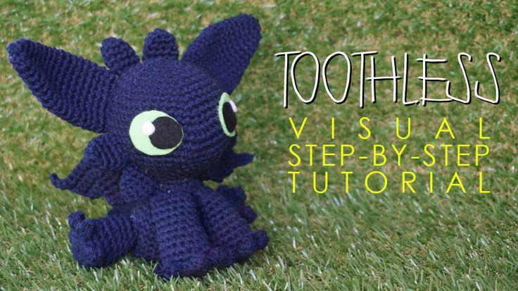 Free crochet amigurumi Toothless (How To Train Your Dragon)