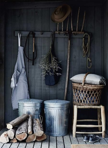 Mudrooms | A mudroom on an open porch...keeps the mud out!