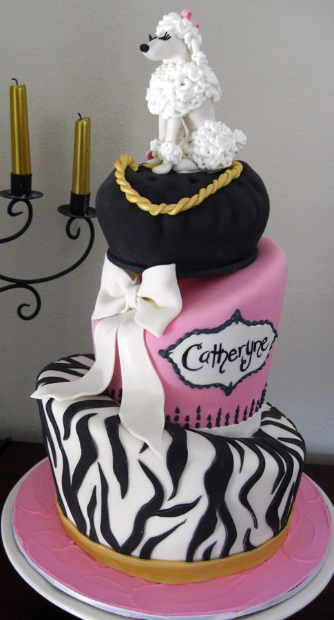 Poodle In Paris Fashion Diva Cake By Amanda Oakleaf Cake