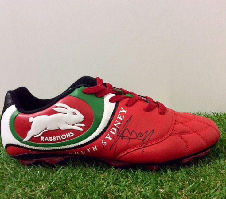 GEORGE BURGESS Signed SOUTH SYDNEY RABBITOHS Football Boot 2015.