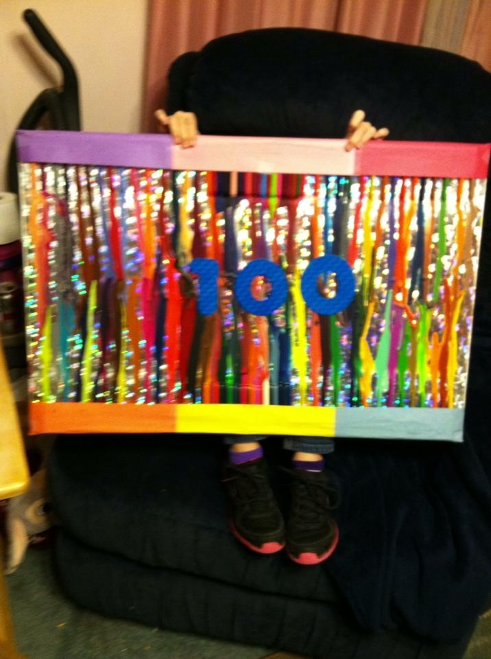 friend's little girl needed to make something for the 100th day of ...