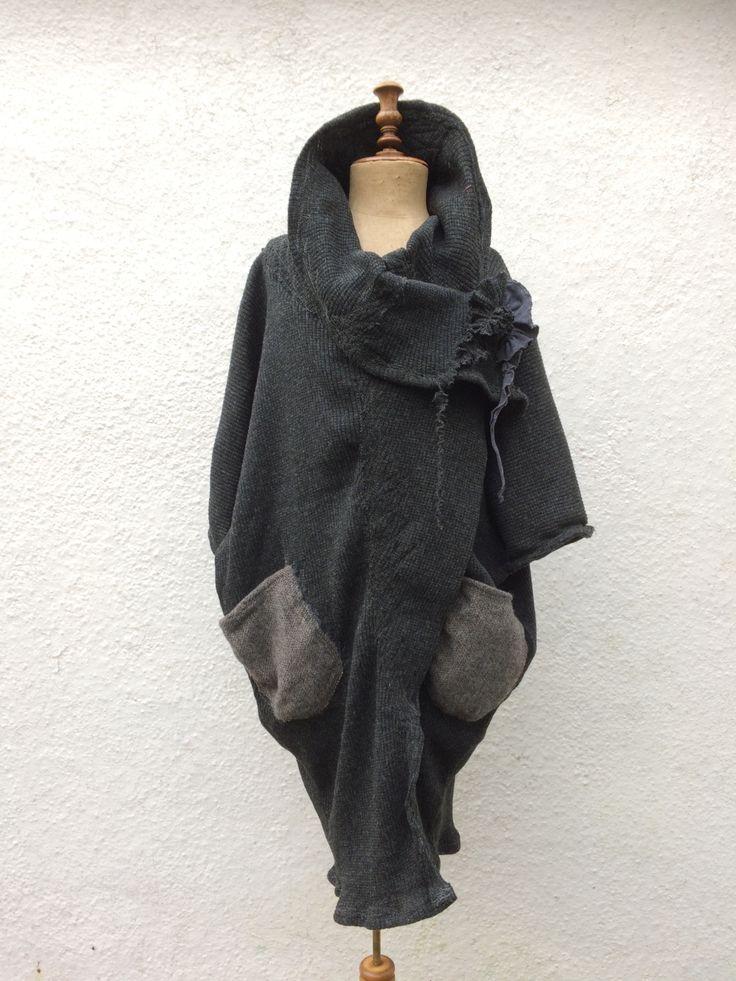 Raggedy — Cocoon coat - 100% organic wool