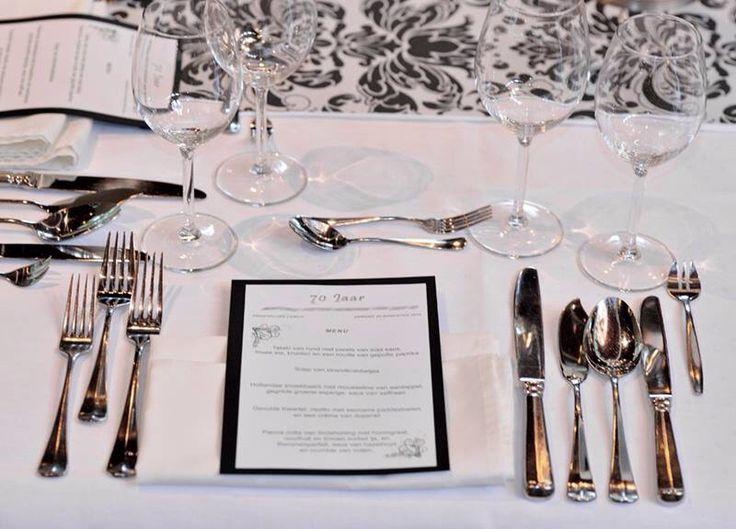 Detail view of private dinner party @De Boschvijver
