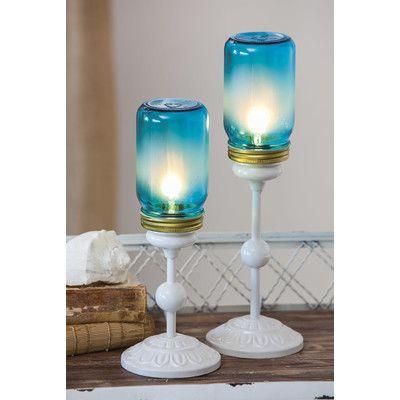 Laurel Foundry Modern Farmhouse Duncan Mason Jar Table Lamp Set