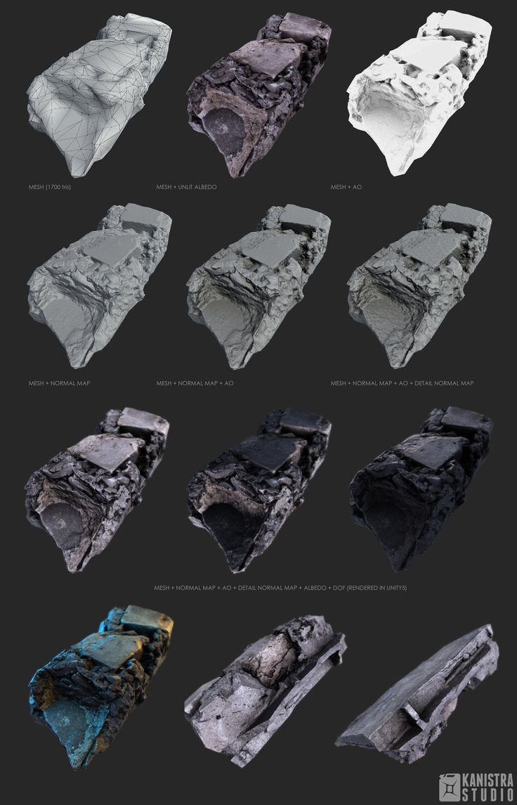 Gameready lowpoly model based on photogrammetry scan data.  https://www.assetstore.unity3d.com/en/#!/publisher/6869