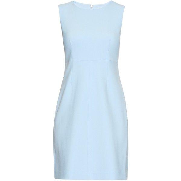 Diane Von Furstenberg Carrie dress (5 610 ZAR) ❤ liked on Polyvore featuring dresses, vestidos, light blue, blue dress, diane von furstenberg, diane von furstenberg dresses and light blue dress