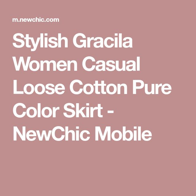 Stylish Gracila Women Casual Loose Cotton Pure Color Skirt - NewChic Mobile