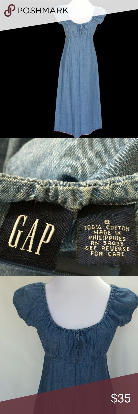GAP Denim Maxikleid Größe 8 100% Baumwolle Modest GAP Denim Maxikleid Größe XXL   – Shorts