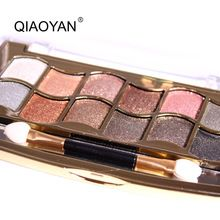 Natural nuevo 12 Colores de sombra de ojos cosméticos de maquillaje de larga duración maquillaje brillo paleta de sombra de ojos profesional paleta de sombra de ojos(China (Mainland))