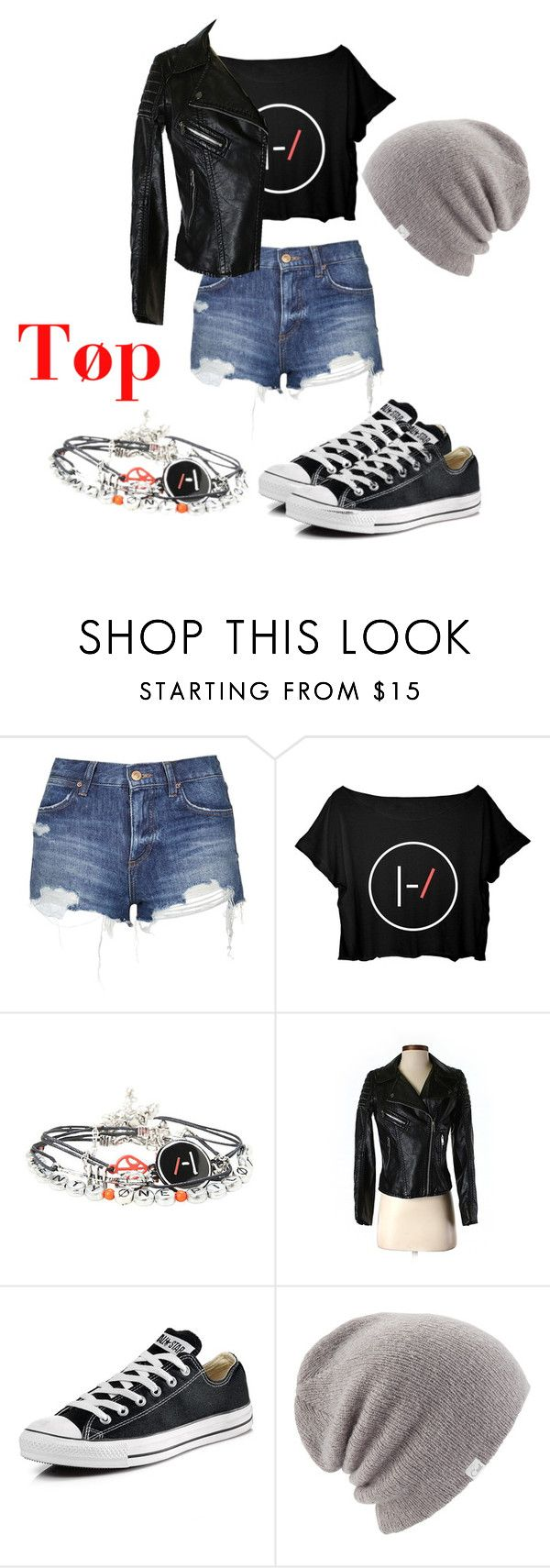 """""""Twenty Øne Piløts"""" by sagelynn23 on Polyvore featuring beauty, Topshop, H&M, Converse and Coal"""