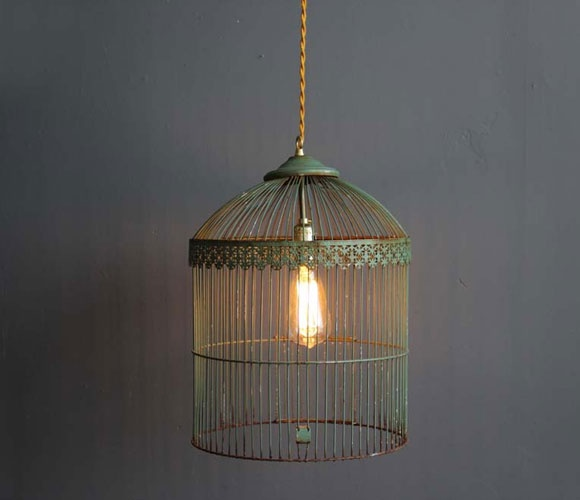 Antique Birdcage Light