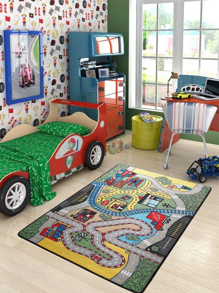 Erkek çocuk odası halı tasarımları