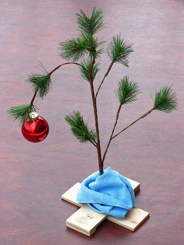 A Charlie Brown Christmas Tree- I have one of these!