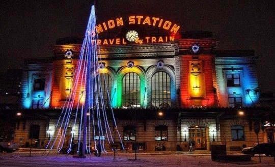 Denver Union Station, Colorado, EUA - Denver International Hostel está a 1,5km ou 18min caminhando da estação