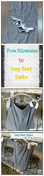 DIY Simple and Quick Seat Sacks from Pillowcases! Simple Sewing Series <3