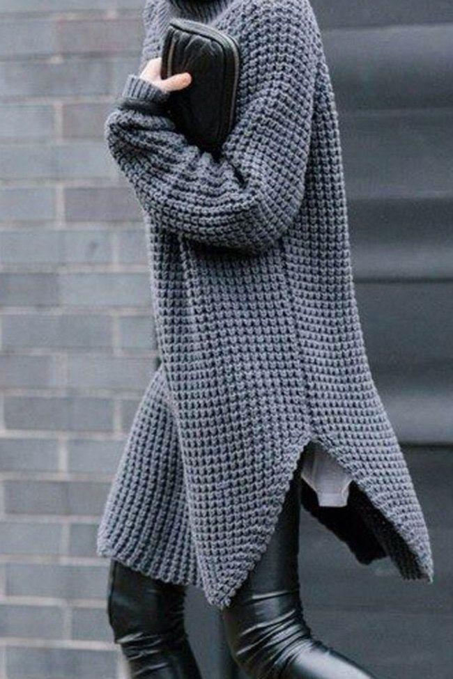 I maglioni maxi, i cardigan che diventano veri e propri cappotti, abiti lunghi di calda lana | 10 consigli per essere eleganti anche in inverno | #Oversize #fashion
