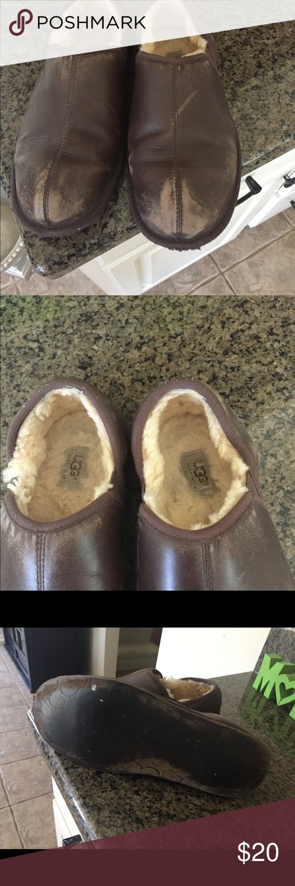 Men's Ugg Slippers Worn men's Ugg Slippers Shoes