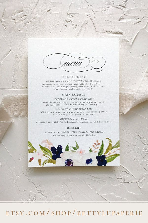 Wedding Menu Ideas Wedding Menu Printed Paper Romantic Table Settings Sample Wedding Invitation Wording Classic Wedding Invitations Wedding Invitations