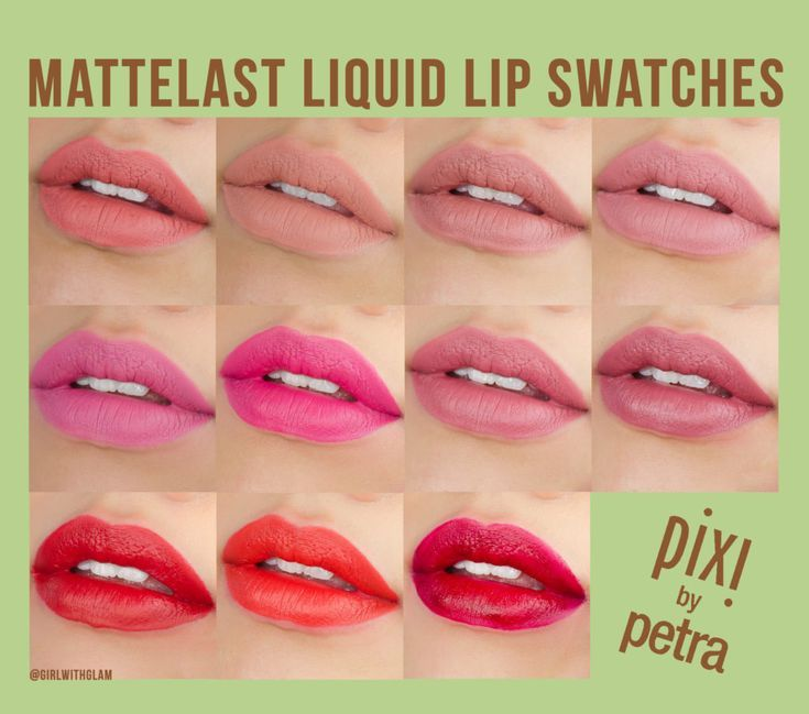 Pixi By Petra Mattelast Liquid Lip Swatches And Review All 11
