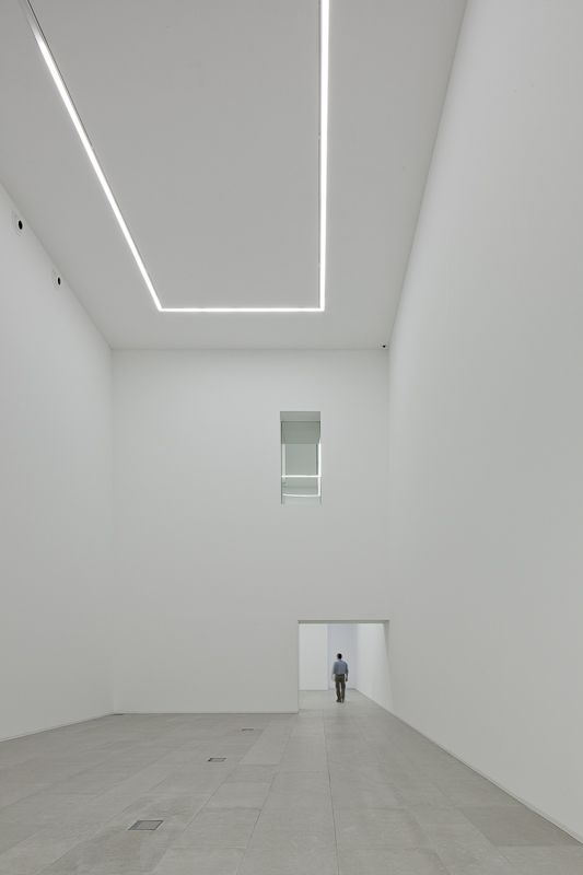 Exhibition space inside the International Centre for the Arts Jose de Guimarães by Pitagoras Arquitectos.