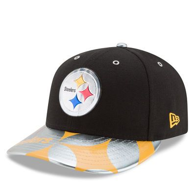 Men's New Era Black Pittsburgh Steelers NFL Spotlight Low Profile 59FIFTY Fitted Hat