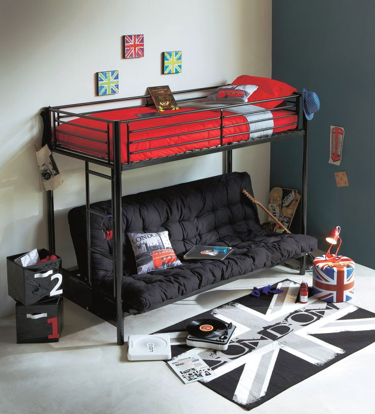 un look jeune et branch pour la chambre de votre ado 100 london but d co londres. Black Bedroom Furniture Sets. Home Design Ideas