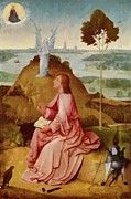"""New artwork for sale! - """" Saint John The Evangelist On Patmos 1485 by Bosch Hieronymus """" - http://ift.tt/2ACL0yQ"""