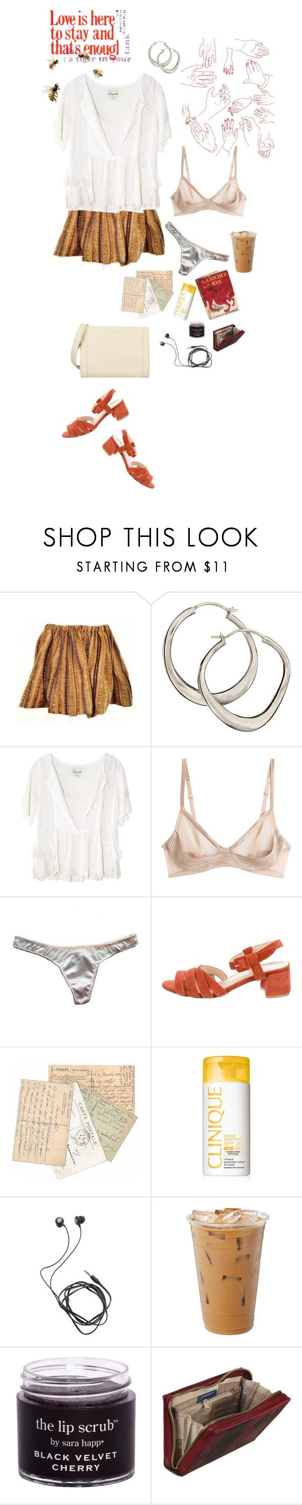 """""""i like the way that words come out your mouth"""" by sarahelisabetha ❤ liked on Polyvore featuring Dinny Hall, Cleobella, La Perla, Agent Provocateur, Maryam Nassir Zadeh, Edition, Clinique, Diane Von Furstenberg and Matt & Nat"""