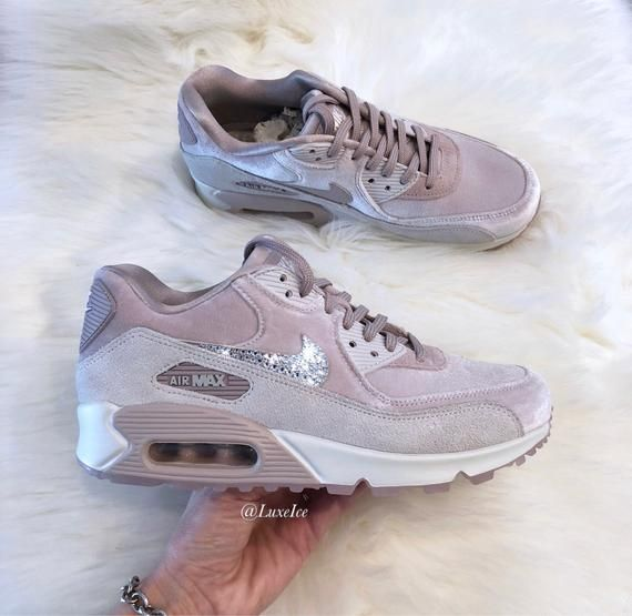 Nike Air Max 90 LX Velvet - Particle Rose/Grey/White ...