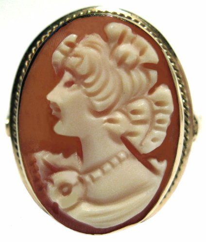 Cameo Ring Master Carved, Conch Shell Solid 14k Yellow Gold Size 7.75 Italian cameosRus. $199.00. Collector's Item, Exeptional Value,Heirloom Jewelry,. Italian, Great Gift, 0.71 x 0.55 Inches. 14k Solid Yellow Gold, Cutom Hand Made Roman Style Frame,. Cameo Ring Carnelian Conch Shell, Master Carved, Size 7.75. One of a Kind, Artisan Jewelry, Beautiful Carving,
