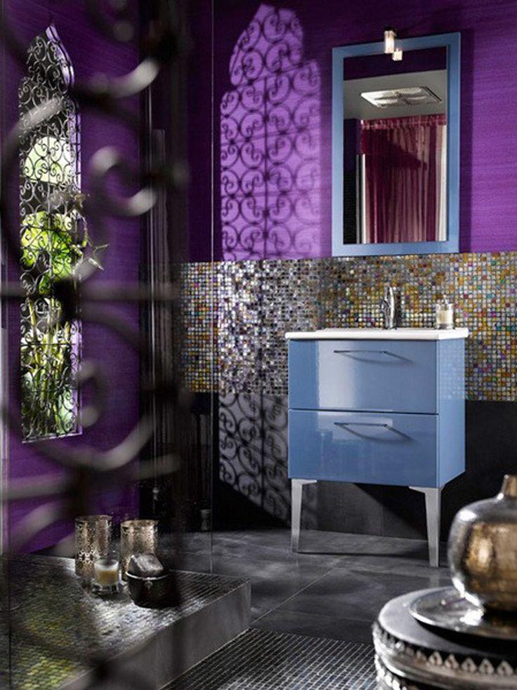 Retro Purple Bathroom Design Ideas Delpha