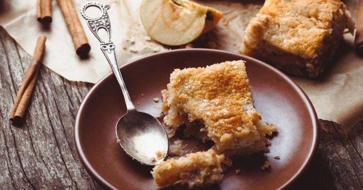 Насыпной яблочный пирог с яблоками за 7 минут
