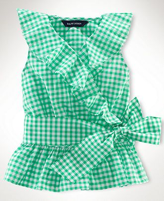 Ralph Lauren Kids Shirt, Little Girls Sleeveless Ruffle Top - Kids Toddler Girls (2T-5T) - Macys