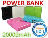 Al por mayor - 2 Puerto USB Power Bank 12000mAh 20000mAh reserva de la energía de recarga paquete externo de la batería para el teléfono móvil mp3