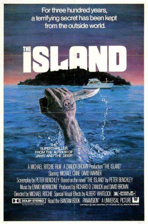 "MP825. ""The Island"" Movie Poster by Charles Gehm (Michael Ritchie 1980) / #Movieposter"