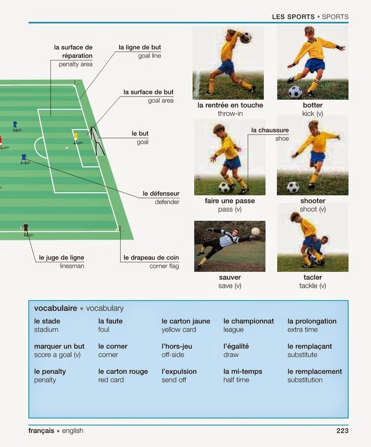 Sports: This website is great for learning sports terms in French. It includes multiple sports and is very beneficial