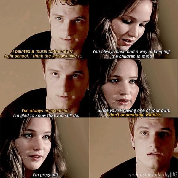 I can't wait for everlark babies! <--before everlark babies we have to watch finnick get eaten by wolf mutts and boggs blown up and katniss and peeta on fire and PRIM GET BLOWN UP BY A BOMB, ALL IN THE CAPITAL I EM EMOTIONALLY UNSTABLE SND MOCKINGJAY PART 2 TRAILER COMES OUT THIS MONTH!!! (April 2015)