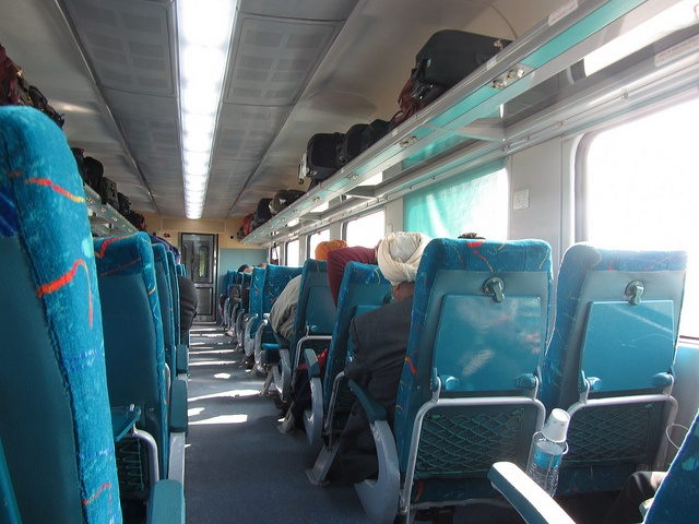 Inside Chandigarh - New Delhi Shatabdi Express