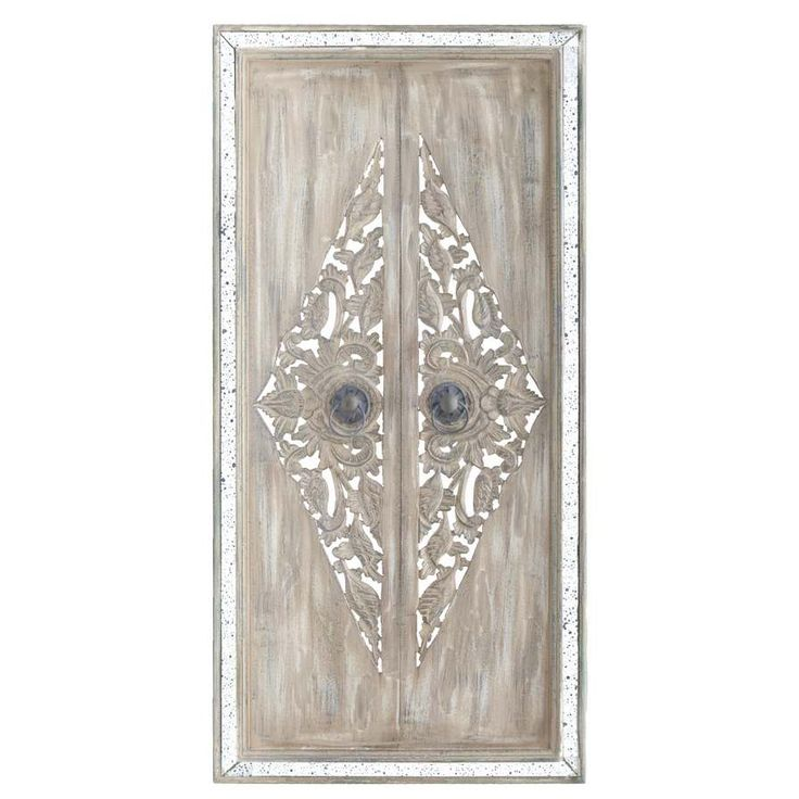Dante Wall Ornament Doors Antique Cream With Mirror Unique Home Decoraccessories Onlinewall