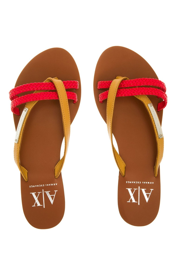Accessories >> $39 Two Tone Braided Sandal - Accessories Shop - Womens - Armani Exchange | shoes | Pinterest