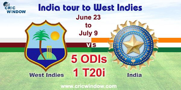 West Indies vs India Fixtures Series 2017 http://www.cricwindow.com/wi-vs-ind-2017/match-schedule.html