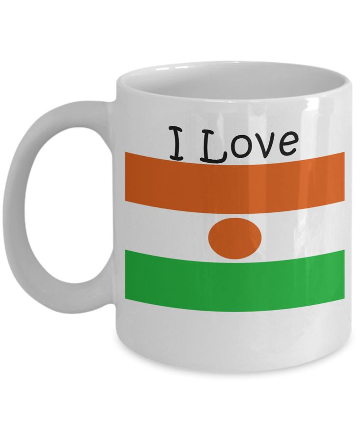 I Love Niger Coffee Mug With A Flag
