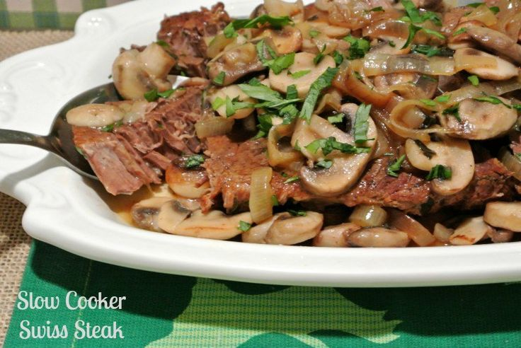 This rich, beefy Slow Cooker Swiss Steak is comfort food that is slowly simmered for a fork-tender and a great budget friendly meal.