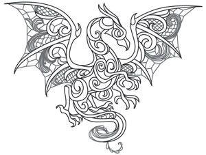 Dragon Smoke free printable coloring page