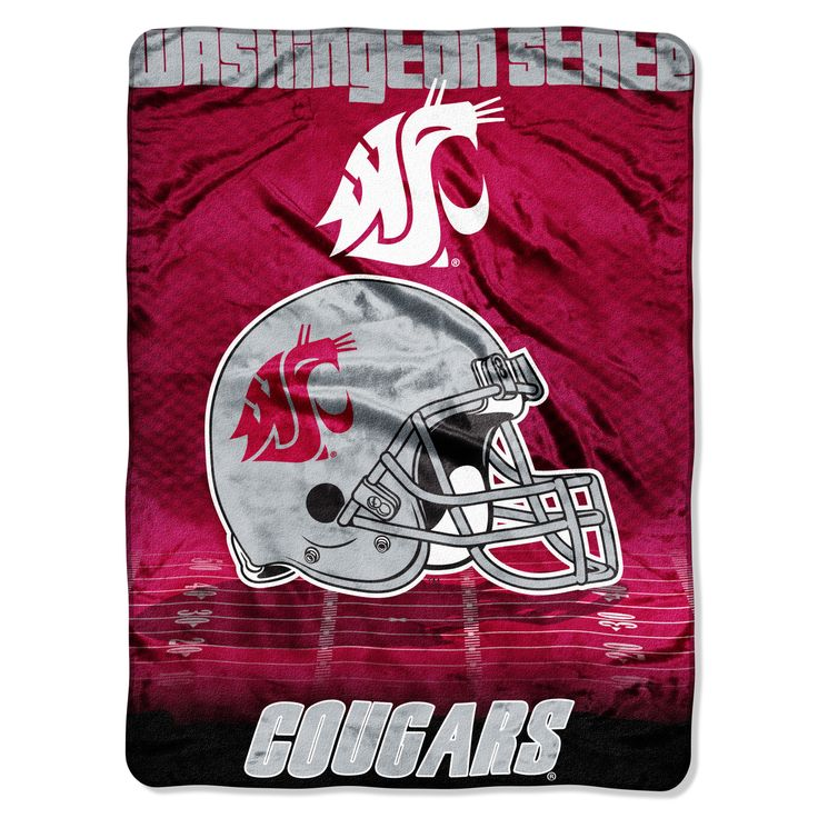 "Washington State College """"Overtime"""" 60x80 Micro Raschel Throw"