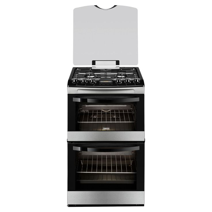 BuyZanussi ZCG43200XA Gas Cooker, Stainless Steel Online at johnlewis.com