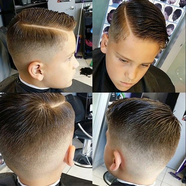 slick haircut with a quiff