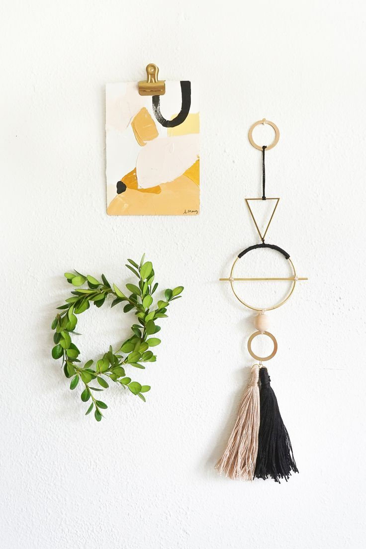 Add Interest To Your Gallery Wall With A Geometric Metal Wall Hanging. Get  The Tutorial